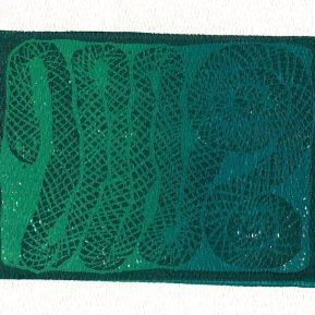 """Anguis"", linoleum relief print, 2020"